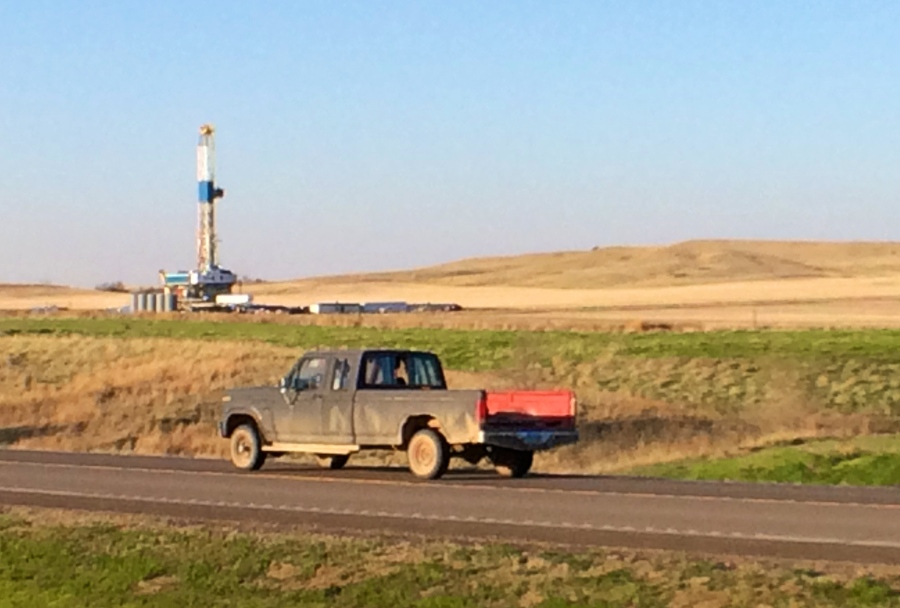 Oil rig. McKenzie County, North Dakota.